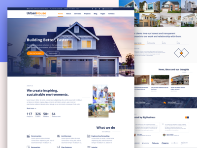 UrbanHouse construction company website