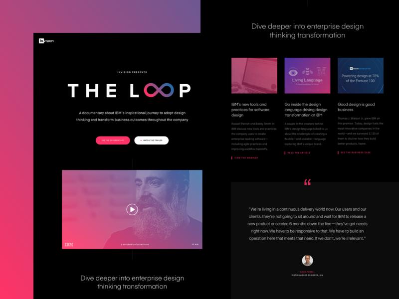 THE LOOP documentary landing page