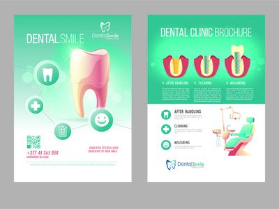 dentalsmile brochure banner logo company profile vector design artwork illustration vector illustration brochure template brochure design brochure