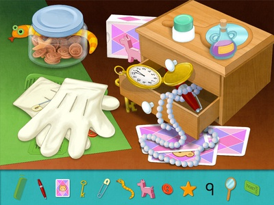 Hidden Object Game seek strategy child objects app learning games game