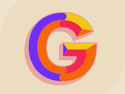 The letter G alphabet vector adobe illustrator typography