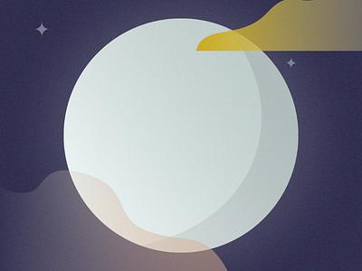 Circle 2 of 100 – The Moon design challenge mezzotint moon nature design illustration