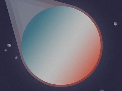 5 of 100 – Asteroid mezzotint space design illustration