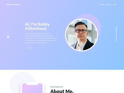 CV Website Proyect Design minimal ux web ui design