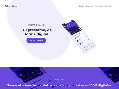 Web Design - Faktor Bank design ux ui website design web website web design