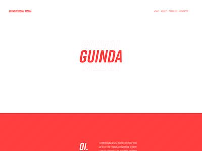 Web Design and Development - Guinda Social Media website design web design minimal web ux ui design