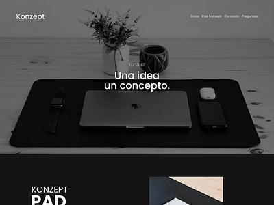 Konzept - UI & Frontend Development website design web design minimal web ux ui