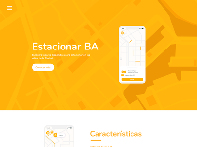 UI Design - Estacionar BA website website design web design minimal design web ux ui
