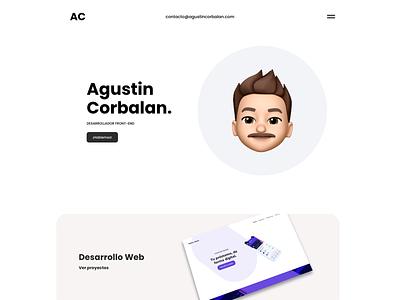 Personal web portfolio design website design web design minimal design web ux ui