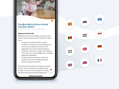 Automatically translating content for parents of deaf children healthcare healthcare app medical design light ui ui app design impaired hearing audio coaching ehealth mhealth deaf kids children medical care medical app medical app ios
