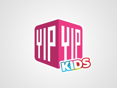 YipYip Kids logo kids logo colorful bright playful gaming apps game education fun