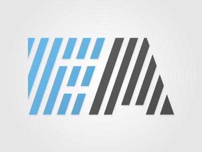 Type logo abbreviation logo identity blue grey type gradient technical concept it typeface