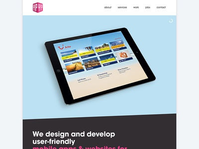 New YipYip mainsite case magenta line website web app development design agency digital