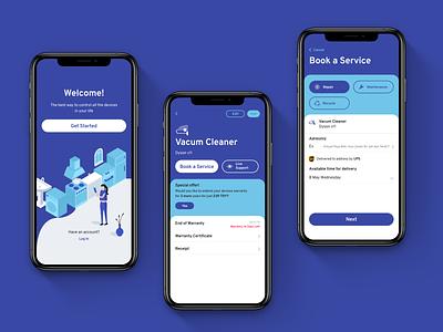 Home Services app design mobile delivery branding design ios ui clean ux app