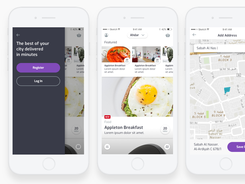 Flick | Delivery App ui ux kudret projectmind ios dubai food flick delivery app