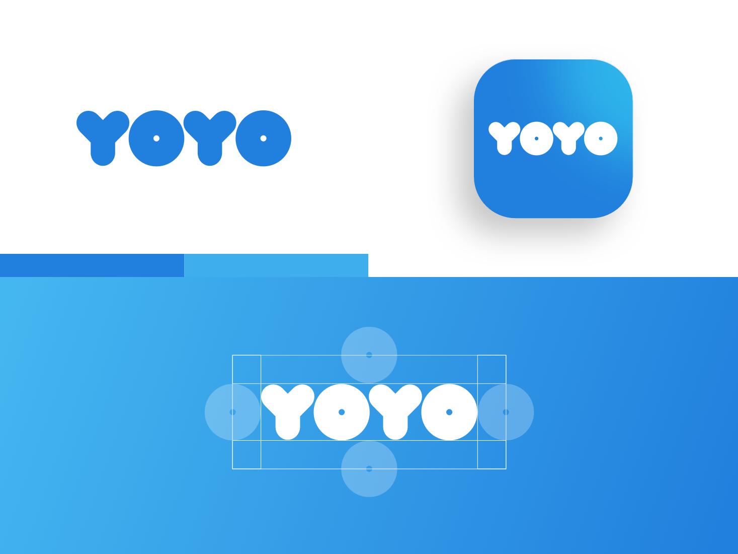 YOYO   Branding istanbul styleguide branding brandbook icon app car sharing blue clean logo design