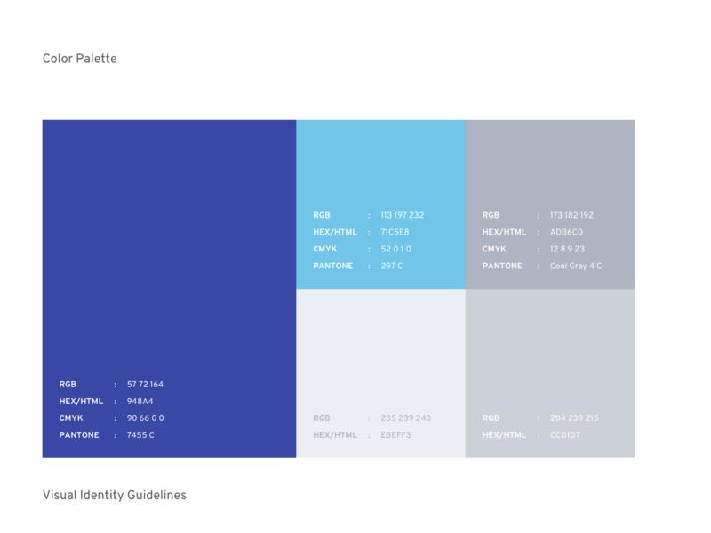 Color Palette for Branding design clean logo identity palette graphic brand guidelines brandbook branding color
