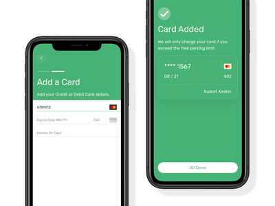 Add a Credit Card clean projectmind kudret ux app ios fintech