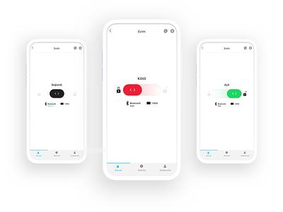 Smart Lock App - LOCK / UNLOCK smart home smartlock smarthome ui ux kudret ios app projectmind clean
