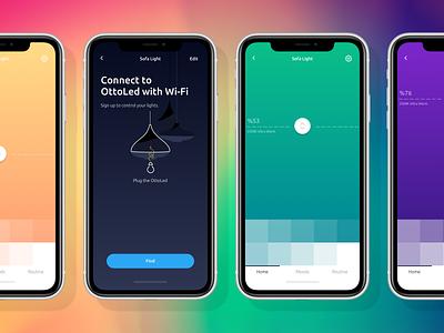 Smart Led App istanbul clean ux ui smart home kudret ios app projectmind