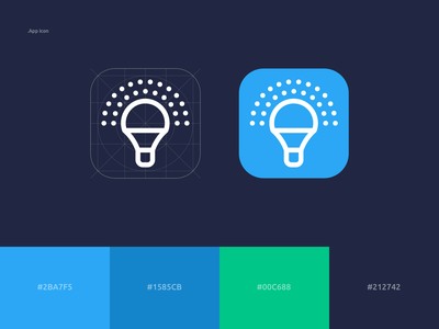 OttoLed App Icon icon smarthome clean kudret brand design branding ios app projectmind logo