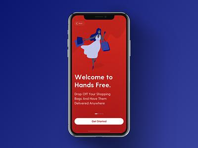 Hands Free App Soon retail app design clean blue delivery projectmind ui ux kudret ios app