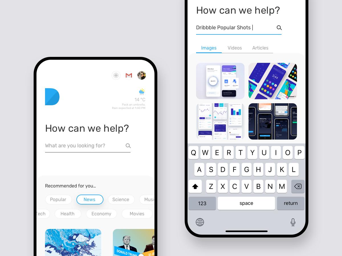 Search Engine Design - Mobile shots dribbble search results search engine search kudret ui ux ios app clean projectmind