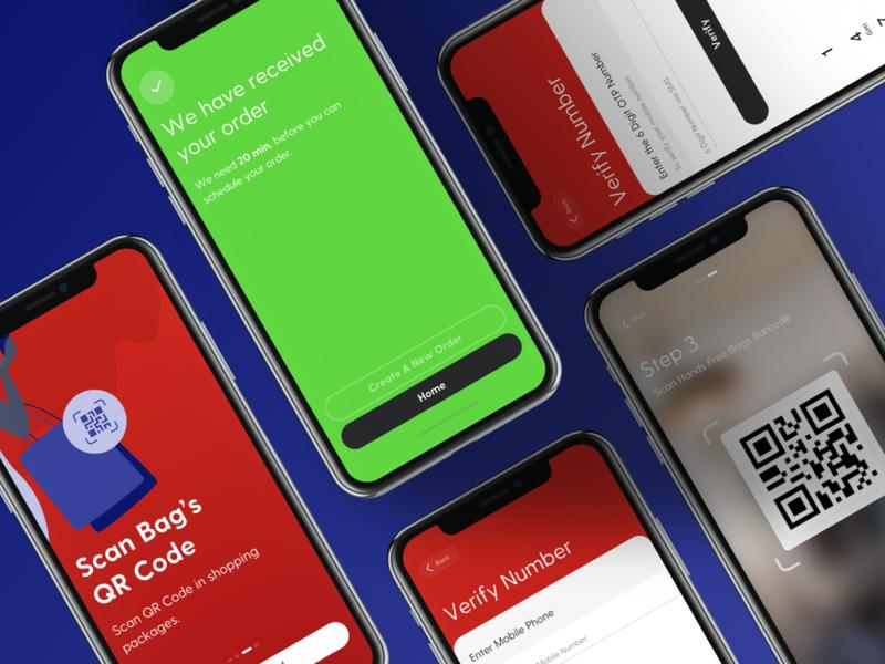 Hands Free App delivery onboarding mobile app mobile ui mobile kudret projectmind interface creative userexperience uxdesign uiux app design app