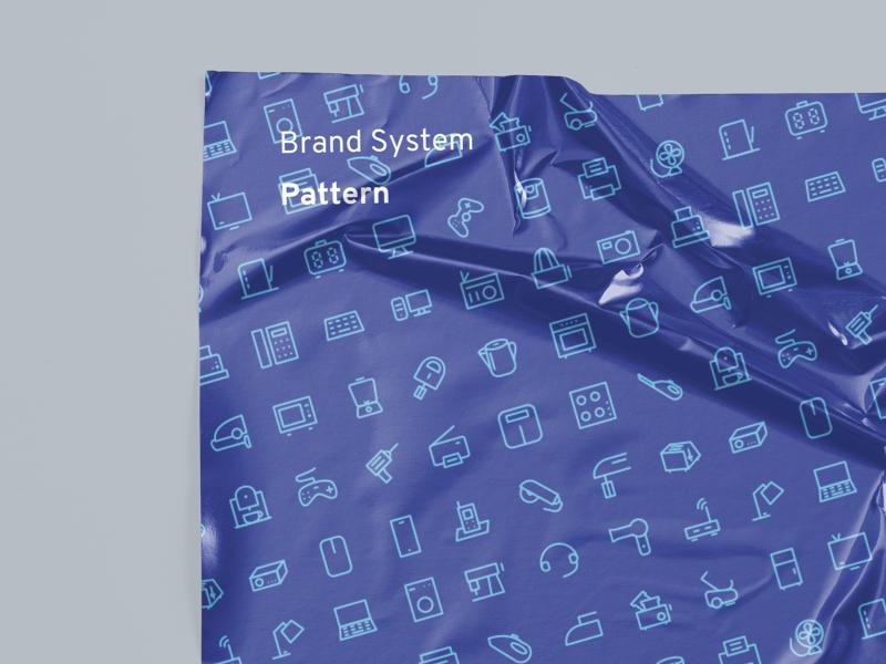 Pattern - Brand System branding design clean design graphic 2d home appliances household vector illustration patterns branding home icon pattern