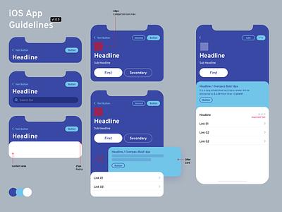 Mobile App Guidelines! ui ux app minimal flat icon guidelines font documentation app design mobile app mobile design system design guide design brand strategy branding brand identity blue