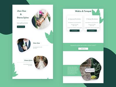 Template 5   - Invitation Web View married couple invitation 2d uidesign design desktop ui uiux