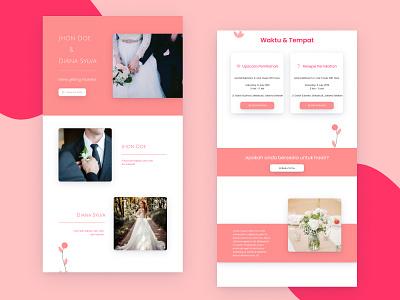 Template 4   - Invitation Web View married couple invitation 2d uidesign design desktop ui uiux