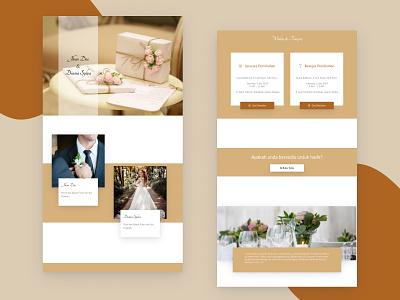 Template 3   - Invitation Web View married couple invitation 2d uidesign design desktop ui uiux