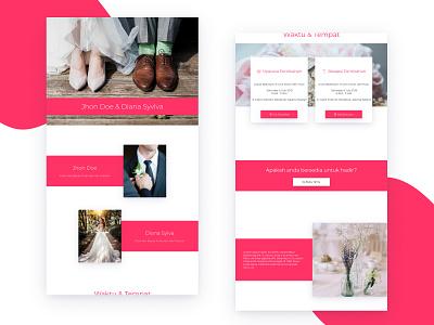 Template 2  - Invitation Web View married couple invitation 2d uidesign design desktop ui uiux