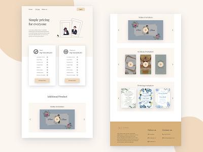 Pricing  - Invitation Web View progressive web app mobile ui married couple invitation 2d uidesign design desktop ui uiux