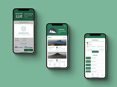 Muncak Apps - Page 3 ticket booking booking app hiking branding illustration logo mobile ui mobile app design uiux uidesign 2d