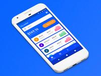 Crypto wallet quick UI concept