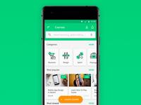 E-learning app UI concept