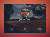 UserProfile Widget