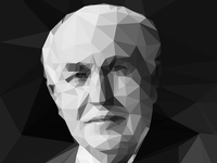 Thomas Edison Low Poly