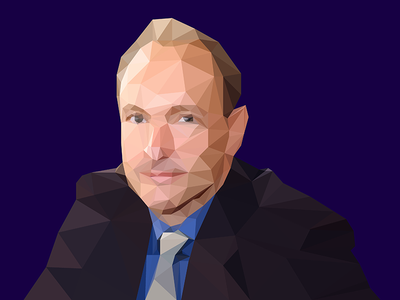 Tim Berners-Lee Low Poly low poly tim berners-lee polygon w3c www world wide web internet web inventor of the www html