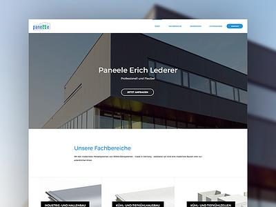 Lederer Website - Home homepage products frontpage landing navigation menu www web html ui corporate website website