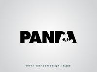 Creative Panda Logo Design modern creativity artwork trend logodesign behance dribble flat minimalism minimalist hidden artist art branding designer design logo creative bear panda logo