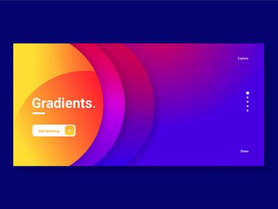 Gradient blue orange gradient landing page uiux illustration web photo colors photoshop figma print design