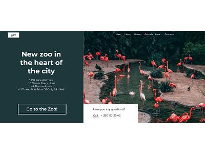 zoo desktop webdesign website shot web landing page site green pink zoo colors photo uiux print photoshop figma design
