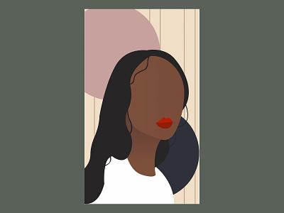 illustration of girl colors dribbble draw design photo photoshop illustration illustrator graphic design girl