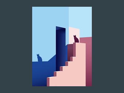illustration of cat vector black design web colors print kitty cat illustration art illustration illustrator