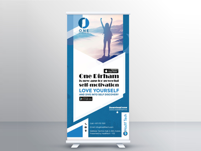 One Dirham Standee print design printing prints print banner design banners banner standee graphic design graphicdesign graphics graphic
