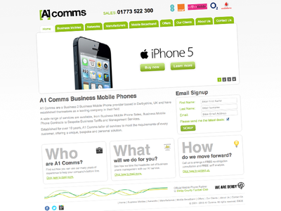 A1 Comms Web Development responsive web development web design