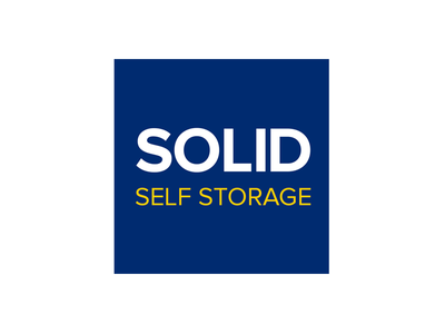 Solid Self Storage Logo branding logo logo design